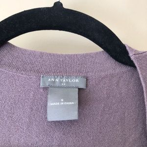 Ann Taylor Sweaters - Gray cropped sleeve cardigan
